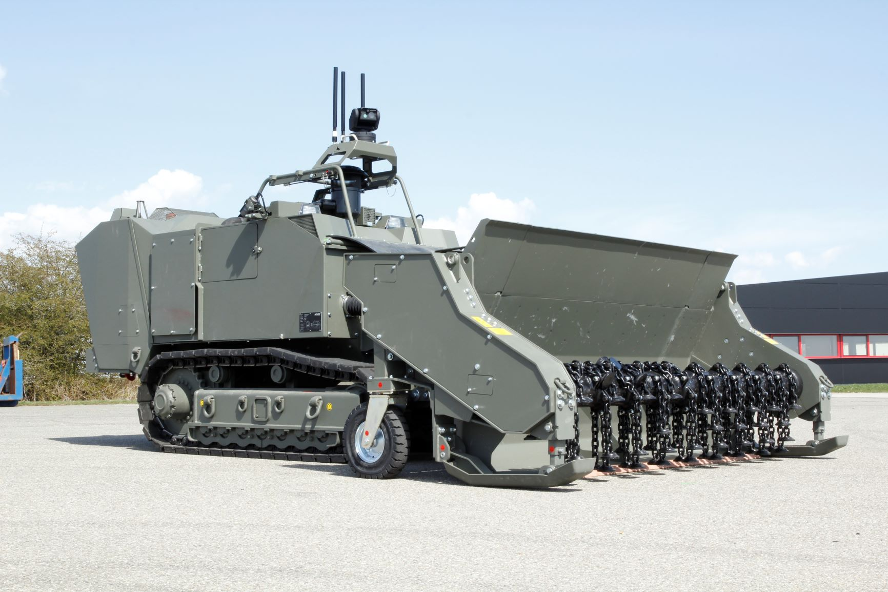 The MW240 is a purpose-built remotely controlled platform used for the safe and effective clearance of explosive devices including landmines, IEDs and cluster munitions.