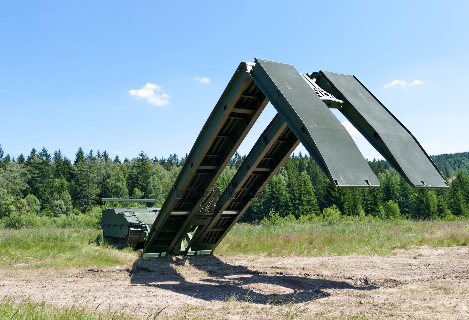 Pearson Engineering's Bridge Launch Mechanism provides vehicles with the capability to launch and recover assault bridges from under armour.