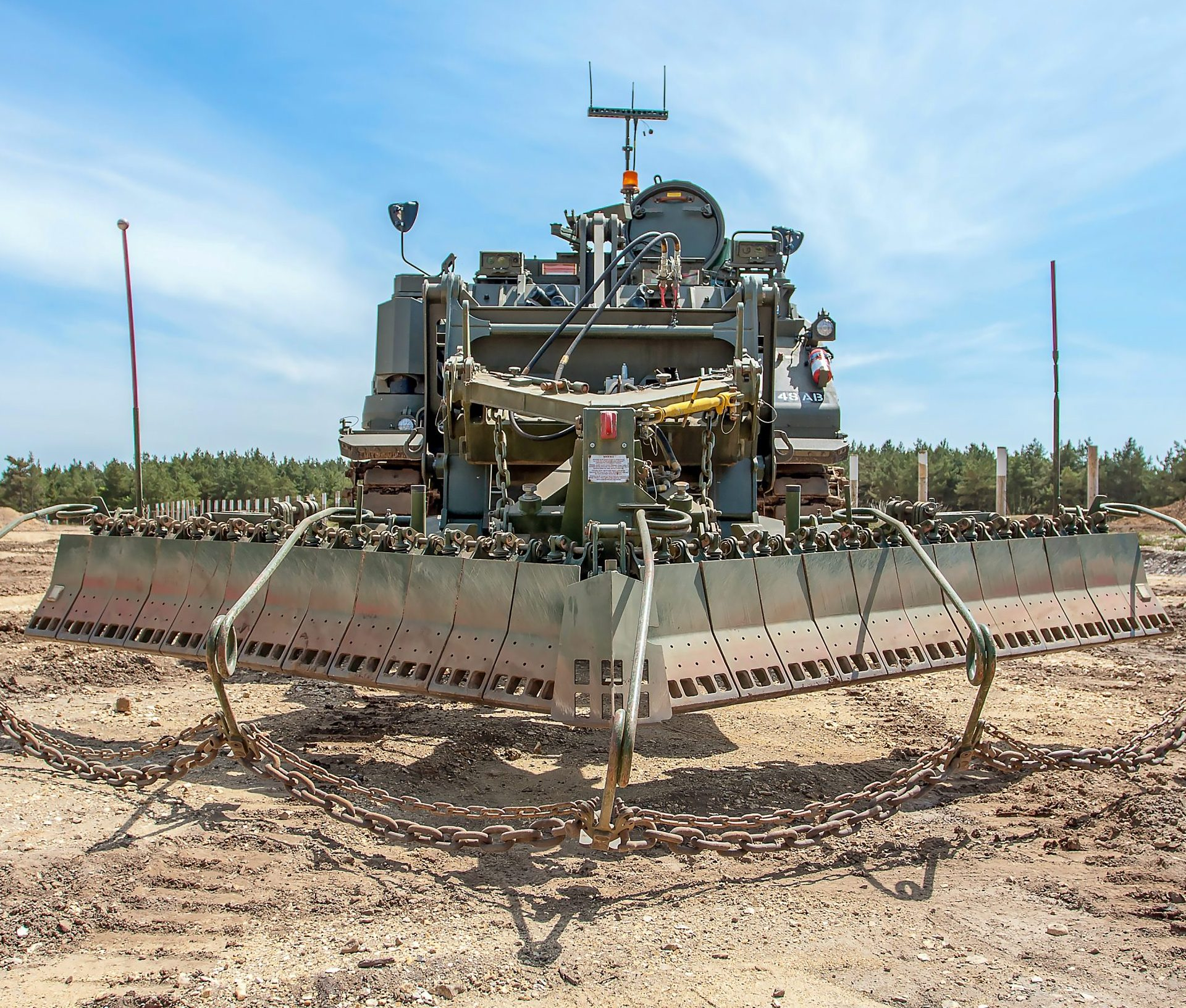 Pearson Engineering's Surface Clearance Device provides combat engineer vehicles with a surface laid landmine clearance capability.