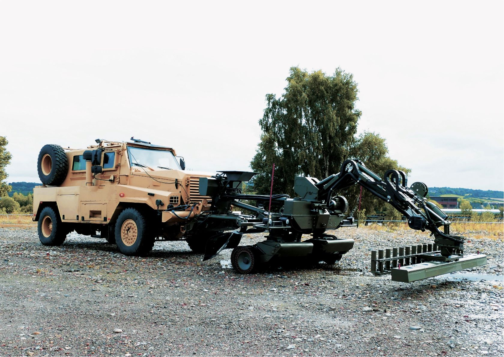 Pearson Engineering's Route Proving and Clearance Multi-Tool combines detect, protect and defeat capabilities to Counter Explosive Ordnance.
